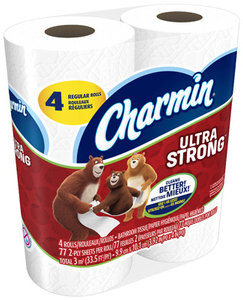 Picture of item 887-635 a Charmin® Ultra Strong 2-Ply Bathroom Tissue. 4 X 3.92 in. White. 96 count.  Replaces 887-634