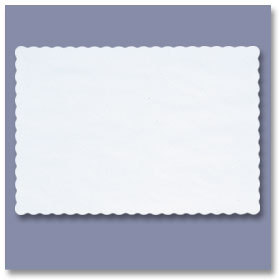 Picture of item 176-944 a PLACEMAT 8X12 WHITE SCALLOPED. REPLACES 176-943.