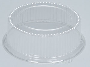 "Picture of item 964-347 a High Dome APET Lid for 8.88"" Rounds.  3"" High.  200 Lids/Case."