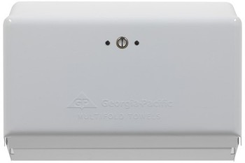 Picture of item 976-274 a Georgia-Pacific Multifold Towel Dispenser. 11.63 X 4.25 X 8.50 in. White.  10/Case.
