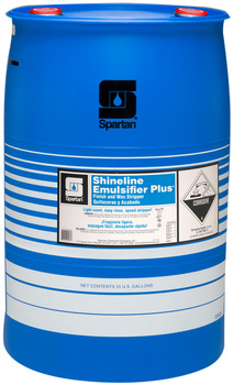Picture of item H977-978 a Shineline Emulsifier Plus®.  Finish and Wax Stripper.  55 Gallon Drum.