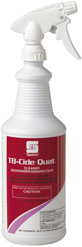 Picture of item 604-102 a TB-Cide Quat® Tuberculocidal Cleaner / Deodorizer / Disinfectant.  1 Quart Bottle, 12 Bottles/Case.