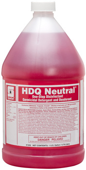 Picture of item 604-135 a HDQ Neutral®.  Neutral pH Disinfectant Quat.  1 Gallon Bottle, 4 Gallons/Case.