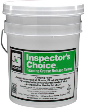 Picture of item 615-101 a Inspector's Choice®.  Clinging, Foaming Grease Release Cleaner.  5 Gallon Pail.