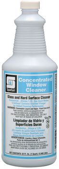 Picture of item 662-101 a Concentrated Window Cleaner.  Glass and Hard Surface Cleaner.  1 Quart, 12 Quarts/Case