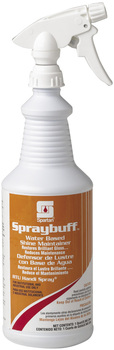 Picture of item 684-101 a Spraybuff.  Water Based Floor Shine Maintainer.  Includes 3 trigger sprayers.  1 Quart.