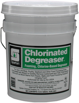 Picture of item 601-132 a Chlorinated Degreaser.  Foaming, Chlorine-Based Degreaser with Bleach.  5 Gallon Pail.