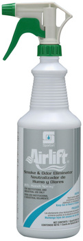 Picture of item 603-218 a Airlift® Smoke & Odor Eliminator.  Includes 3 trigger sprayers.  1 Quart.