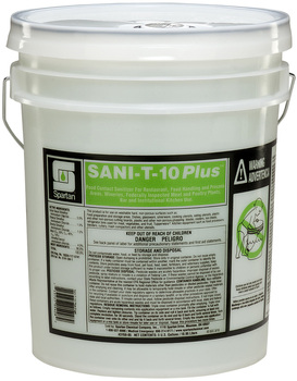 Picture of item H882-268 a Sani-T-10® Plus.  Quat-Based, Food Contact Sanitizer.  5 Gallons.