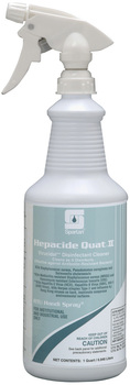 Picture of item 604-101 a Hepacide Quat® II.  Disinfectant with Hepatitis B and Hepatitis C claims.  Includes one trigger sprayer.  1 Quart.