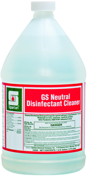 Picture of item 604-130 a Green Solutions® Neutral Disinfectant Cleaner.  1 Gallon Bottle, 4 Gallons/Case.