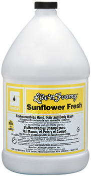 Picture of item 670-631 a Lite'n Foamy® Sunflower Fresh.  Foaming Hand, Hair, and Body Wash. 1 Gallon.