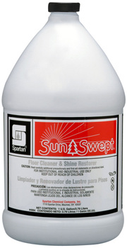 Picture of item 684-104 a SunSwept®.  Floor Cleaner & Shine Restorer. Exclusively for use with automatic scrubbers. Cleans while intensifying shine. Time and money-saving solution.  1 Gallon.