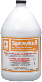 Picture of item 684-107 a Spraybuff.  A combination floor-finish polymer and quality detergent for easier floor maintenance at low cost.