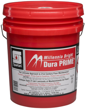 Picture of item 682-224 a Millennia Bright Dura Prime®.  Conditions, protects and laminates old, damaged and new resilient tile, terrazzo, linoleum,etc.  5 Gallons.