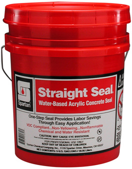 Picture of item 681-118 a Straight Seal®.  Water-Based Acrylic Concrete Seal.  5 Gallons.