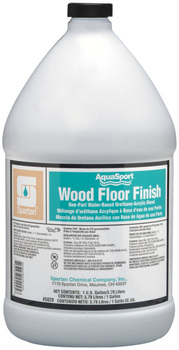 Picture of item 683-206 a AquaSport® Wood Floor Finish.  Water-based urethane-acrylic blend floor finish with 25% solids.  1 Gallon.