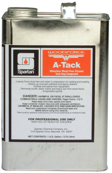 Picture of item 970-468 a WOODFORCE® A-Tack.  Waterless wood floor cleaner and tack rag compound. Low odor.  1 Gallon.
