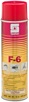 F-6 Flying Insect Killer quickly kills flying insects. EPA Reg. No. 706-83-5741.  20 oz. Can, 12 Cans/Case.