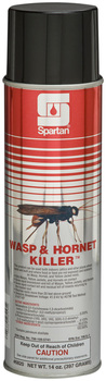 Picture of item 630-203 a Wasp & Hornet Killer™.  Solvent based formula kills on contact from over 20 ft. away. Keeps bugs away for up to 4 weeks. EPA Reg. #706-109-5741.  20 oz. Can, Net 14 oz.