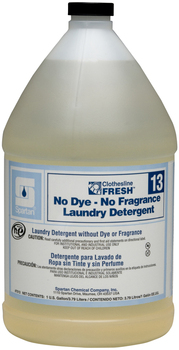 Clothesline Fresh™ #13 No Dye-No Fragrance Laundry Detergent.  1 Gallon.
