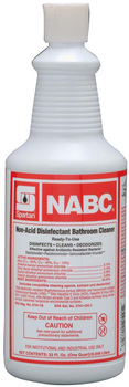Picture of item 602-101 a NABC®.  Non-Acid Disinfectant Bathroom Cleaner. Ready-to-use. Kills HBV and HCV on inanimate surfaces. EPA Reg. No. 5741-18. 12/32 oz./cs. Includes mop.  1 Quart.