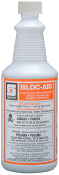 Picture of item H882-337 a Bloc-Aid®.  Drain and Sewer Cleaner/Maintainer.  Ready to Use. includes gloves.  1 Quart.