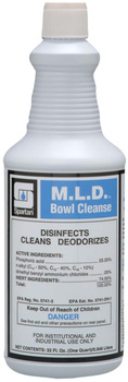 Picture of item H882-502 a M.L.D. Bowl Cleanse.  Phosphoric acid-base disinfectant. 32 oz. Bottle (1 Quart), 12 Quarts/Case.