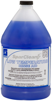 Picture of item 619-510 a SparClean® Low Temperature Rinse Aid.  1 Gallon.