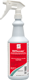 Picture of item SPT-102403 a Diffense® Broad Spectrum Cleaner Disinfectant. 1 quart. Clean Floral scent. 12 count.