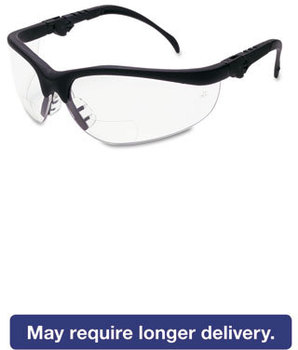 Picture of item CRW-K3H25 a Crews® Klondike® Magnifier Safety Glasses,  2.5 Magnifier, Clear Lens