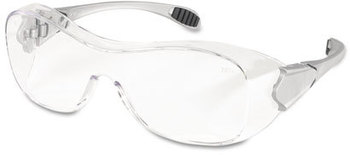 Picture of item CRW-OG110AF a Crews® Law OTG® Over-the-Glass Frame Safety Glasses with Anti-Fog Lens. Clear.
