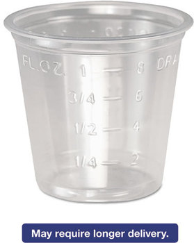 Picture of item DCC-P101M a SOLO® Cup Company Plastic Medical & Dental Cups,  1 oz, Clear, Graduated, 5000/Carton