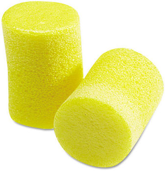 Picture of item MMM-3101060 a 3M E·A·R™ Classic™ Earplugs,  Pillow Paks, Uncorded, Foam, Yellow, 30 Pairs