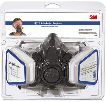 3M Half Facepiece Paint Spray/Pesticide Respirator,  Large
