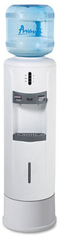 "Avanti Hot & Cold Water Dispenser,  12 3/4"" dia. x 39h, Ivory White"