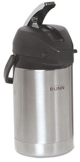 BUNN® Lever Action Airpot,  Stainless Steel
