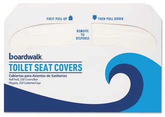 Boardwalk® Premium Toilet Seat Covers,  250 Covers/Sleeve, 10 Sleeves/Carton