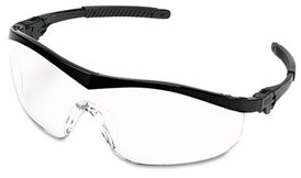 Picture of item CRW-ST110 a Crews® Storm® Safety Glasses,  Black Nylon Frame, Clear Lens, 12/Box