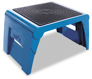 Cramer® 1UP® Folding Step Stool,  250lb Cap, 14w x 11 1/4d x 9 3/4h, Blue