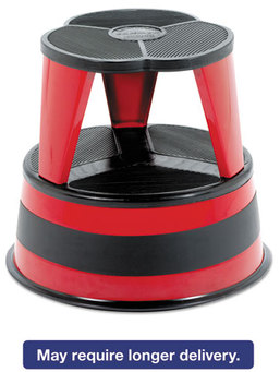 Cramer® Kik-Step® Stool,  16 dia x 14 1/4h, to 300 lb, Red