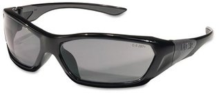 Picture of item CRW-FF122 a Crews® Forceflex™ Professional Grade Safety Glasses,  Black Frame, Gray Lens
