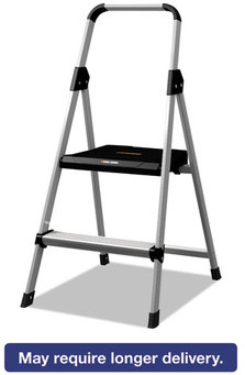 Louisville® Black & Decker Aluminum Step Stool,  250lb cap, 18 1/2w x 23 1/2 spread x 38 1/2h