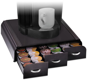 Mind Reader Anchor Triple Drawer Single-Serve Coffee Organizer,  13 23/50 x 12 87/100 x 2 18/25