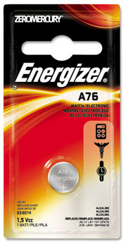 Picture of item EVE-A76BPZ a Energizer® Mercury-Free Watch/Electronic/Specialty Battery,  Alkaline, A76, 1.5V, MercFree