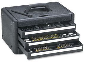 Great Neck® 205-Piece Essentials Home & Garage Tool Kit,  205-Pieces w/3 Drawer Case