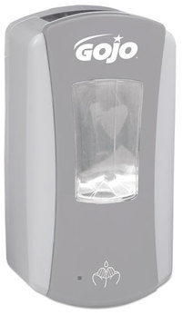Picture of item 965-341 a GOJO® LTX-12™ Touch-Free Foam Soap Dispenser. 1200mL. Gray and White.