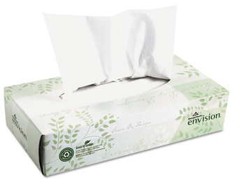 Picture of item 886-101 a Georgia Pacific® Professional envision® White Facial Tissue,  100/Box, 30 Boxes/Carton
