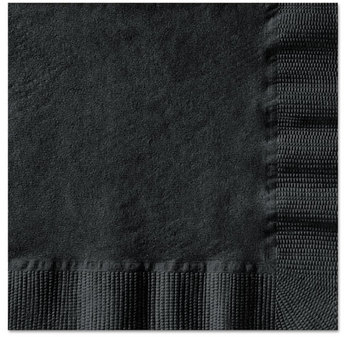 Hoffmaster® 1-Ply Embossed Beverage Napkins. 10 X 10 in. Black. 1000 count.