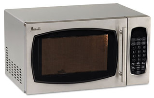 Avanti 0.9 Cubic Foot Capacity Stainless Steel Microwave Oven,  900 Watts